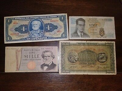 World Currency Italy,Brazil, Greece and Belgium all circulated banknotes