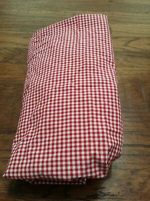 POTTERY BARN KIDS Red Gingham Check Futted Crib Sheet 2 AVAILABLE FOR BUY IT...
