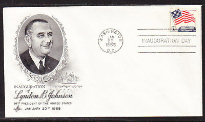"USA ""Artcraft"" 1965 Lyndon B Johnson  First Day Cover"