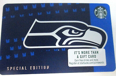 NEW 2018 Starbucks SEATTLE SEAHAWKS Gift Card Limited Edition