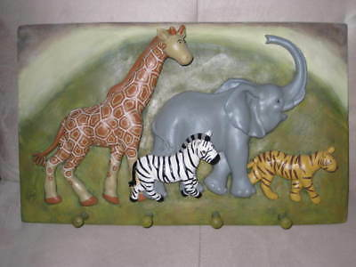 ARTIST JAIMY 3d SAFARI WALL CLOTHING RACK - KID ROOM ACCENT PIECE