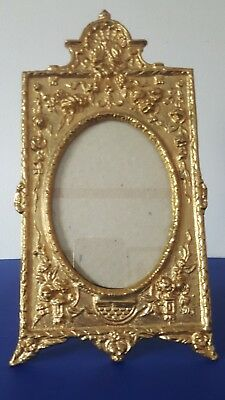 Vintage Solid Brass Photo Frame   Hand Made in Thailand by Maitland-Smith LTD
