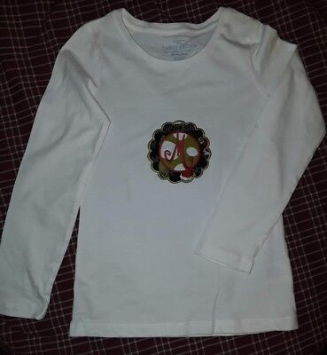 FADED GLORY White Long Sleeved Peace Love Dream Top Girls Size 7-8