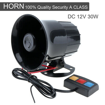 3 Sound Loud Car Warning Alarm Police Fire Siren Horn Speaker System 30W 12V