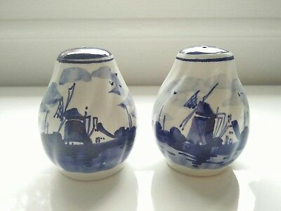 Vintage Delft Blue Holland  Salt  Pepper Shakers
