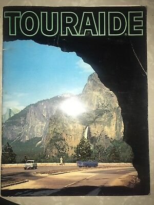 Vintage Touraide Conoco Map Gas Oil All States Atlas Advertising Man Cave