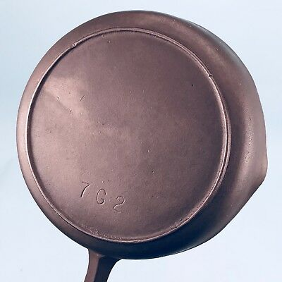 """Antique Cast Iron BSR """"RED MOUNTAIN"""" SERIES #7  7G2 SKILLET ~ Restored"""
