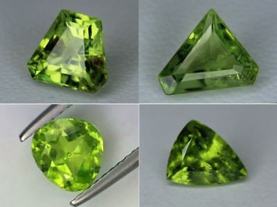 Natural Peridot Loose Trilliant Cut Gemstone Pakistan Best Color 8x7 7x7 10x8mm