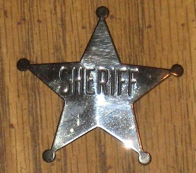 SHERIFF - 5 Point Silver Colored Metal Law Enforcement Novelty Police Badge