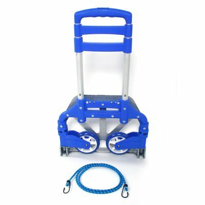 Cart Folding Hand Truck Dolly Push Collapsible Trolley Luggage Aluminium 75kg US