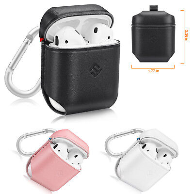 For Apple AirPods Earphone Headset Genuine Leather Protective Case Cover Skin