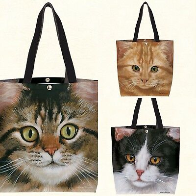 Fiddler's Elbow Cat Totes 3 Different Prints For The Cat Lover NWT