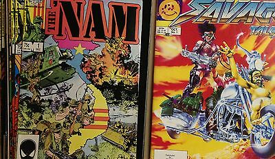 THE NAM #1-17 COMPLETE SET LOT OF 17 + Savage Tales # 1 1985 Nam 1st appearance!