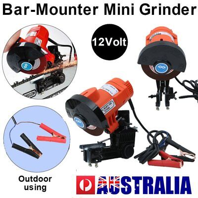 Powerful 12V 85W CHAINSAW SHARPENER Chain Saw Electric Grinder File Pro Tool AUS
