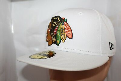 save off 8760e 74478 Chicago Blackhawks New Era NHL White Basic 59fifty,Cap,Hat ...