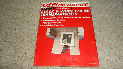 Office Depot Tranparency Sheets #753-631- 70 Sheets