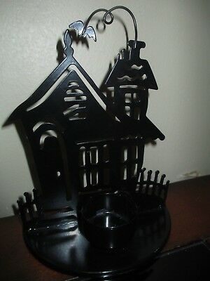 """Yankee Candle Haunted House Tea Light Candle Holder 7.5"""" Tall"""