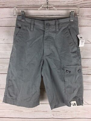 New w/ tags Vans Off The Wall gray cargo shorts size boys 10