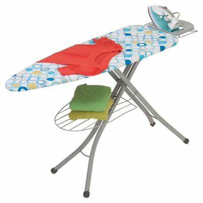 Honey Can Do Ironing Board with Rest and Shelf, Gray