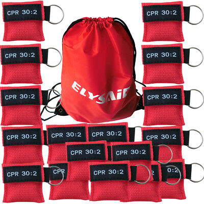 100pcs/pack Cpr Mask with Keychain Cpr Face Shield  Writing Cpr 30:2