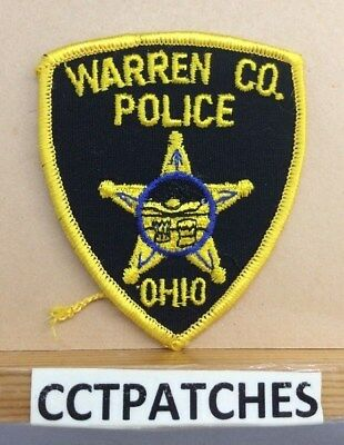 Warren County, Ohio Police (Small) Shoulder Patch Oh