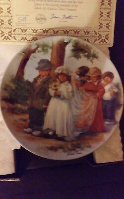 """Knowles Collector Plate """"here Comes The Bride"""" 1985 4Th Jeanne Downs Friends"""