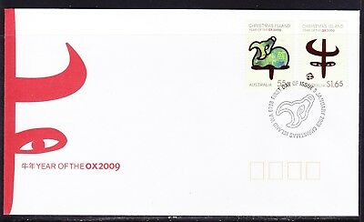 Christmas Island 2009 Year of the Oxen  First Day Cover APM