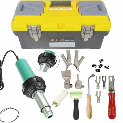 Go2Home 1600W Plastic Welder Kit Hot Air Gun Complete Tool Set Hand Held Torch