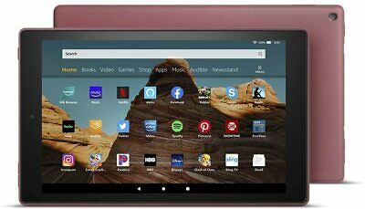 "NEW Amazon Fire HD 10 Tablet 10.1"" Display 32GB (7th Gen) 2017 - PUNCH RED"