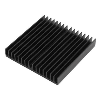 1 pcs Aluminum Radiator Heat Sink Heatsink 60mm x 60mm x 10mm Black X5O3