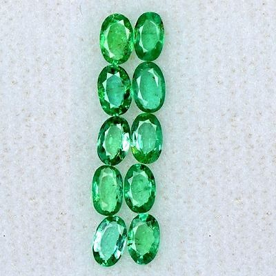 1.23 cts Natural Lustrous Top Green Oval Cut Lot Emerald Loose Gemstone Zambia $