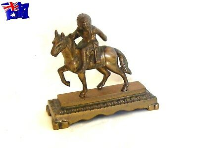 vintage ... American Native Indian Chief ... Cast Brass Statuette
