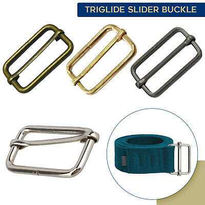 38mm Metal Rectangle Sliding Bar Strap Buckles Perfect for Backpack Accessories