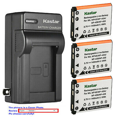 Kastar Wall Charger Battery for Fuji NP-45 NP-45S BC-45B Fujifilm FinePix XP120