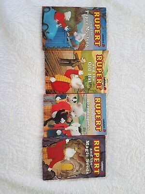 RUPERT THE BEAR Ladybird Hardback Books x4