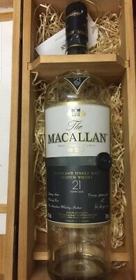 Empty bottle Macallan Fine Oak 21 years Old
