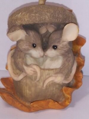 """Charming Tails Silverstri """"ACORN BUILT FOR TWO""""  DEAN GRIFF VINTAGE"""