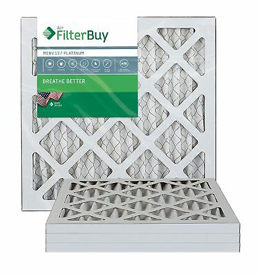 FilterBuy 18x18x1 MERV 13 Pleated AC Furnace Air Filter, (Pack of 4 Filters),
