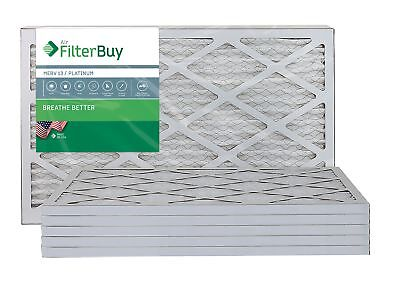 FilterBuy 15x20x1 MERV 13 Pleated AC Furnace Air Filter, (Pack of 6 Filters),