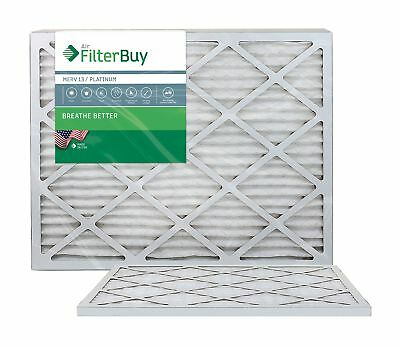 FilterBuy 24x24x1 MERV 13 Pleated AC Furnace Air Filter, (Pack of 2 Filters),