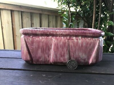 Massive Art Deco Australian Pottery Trough/planter Vase - Pates Potteries Sydney