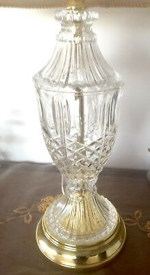 AMAZING TALL TABLE LAMP BRASS with CREAM SHADE