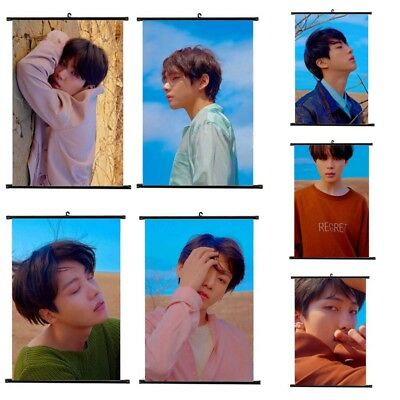 KPOP BTS LOVE YOURSELF 轉 Tear Hanging Painting Art Wall Scroll Poster Fans Gift