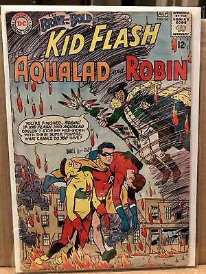 Brave and the Bold 54 VG 4.0 White Pages 1st/Origin Teen Titans silver-age KEY