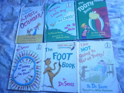 Lot of 6 HB Beginner Books Read All By Myself Dr. Seuss Theo LeSieg
