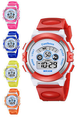 Kids Children Boys Girls Waterproof Digital Sports LED Wrist Watches Xmas Gift
