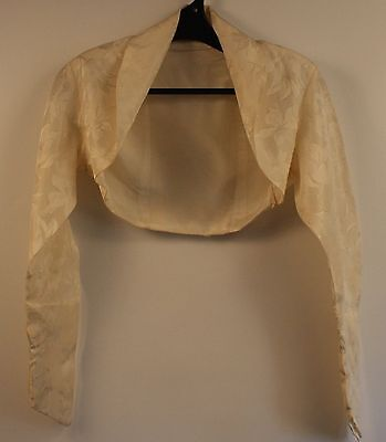 SMALL, CREAM,1950's, BROCADE, BOLARO . ORIGINAL VINTAGE.