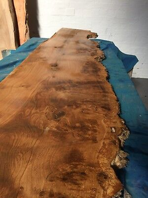 "Burr Oak 1.5"" Lumber/Boards Waney Edge/ Kiln Dried / High Figure"