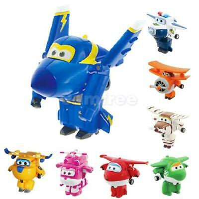 UK FUNNY Super Wings Robot to Airplane Plane Transformable Toy Kids BOYS Gifts