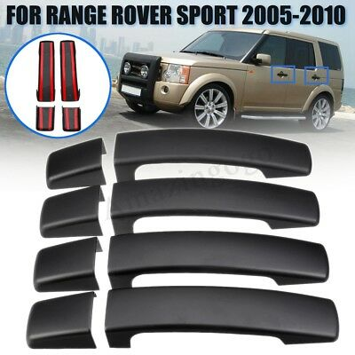 8Pcs Matte Black Door Handle Covers Trim For Land Rover Discovery 3 Freelander 2